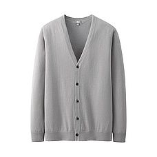 SUPIMA COTTON V NECK CARDIGAN