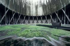 abandoned cooling towers by reginald van de velde 10 The Insides of these Abandoned Cooling Towers Look Straight Out of a Sci Fi Film