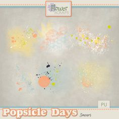 Collections :: P :: Popsicle Days by Flower Scraps :: Popsicle Days {Smears} #flowerscraps #thestudio #digitalscrapbooking