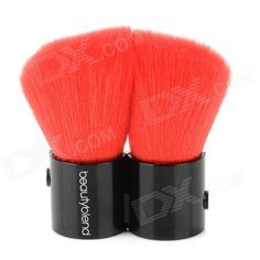 Brand: Beautyblend; Model: J-8019; Color: Red + black; Handle Material: Fiber; Brush Material: Plastic; Quantity: 1; Functions: Professional tool for cosmetic makeup; Others: Loose powder and blush brush,; Packing List: 1 x Brush; http://j.mp/1lkq5YB