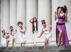 Megara and the Muses cosplay