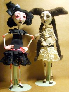 "Marianna Nardin *Circus of lost dolls ""Cordelia and Charlotte"""