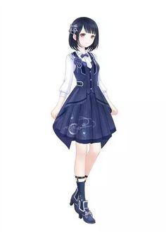 Anime girl with dress ❤