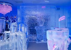 Minus Five in Las Vegas. The bar is completely made of ice from the bar to the drinking glasses. It literally is five below zero so you can't stay too long, but the bar is a must see.
