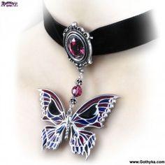 collier gothique alchemy gothic death's hand butterfly - Boutique Gothique Romantique Gothyka