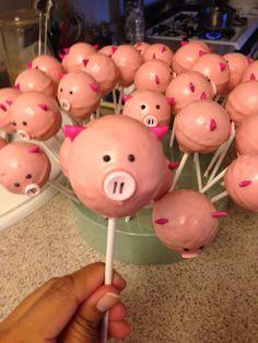 Pigs cake pops...oink oink!!!