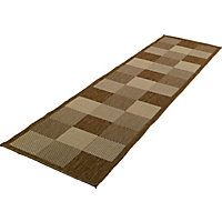 blocks carpet runner 180x60cm chocolate might look a little more inspiring in situ