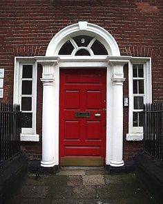 door ways | ... myriads of beauteous, colorful ornate doorways of Dublin townhouses