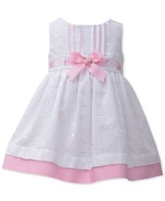 Bonnie Baby Baby Girls' Eyelet and Ribbon Party Dress