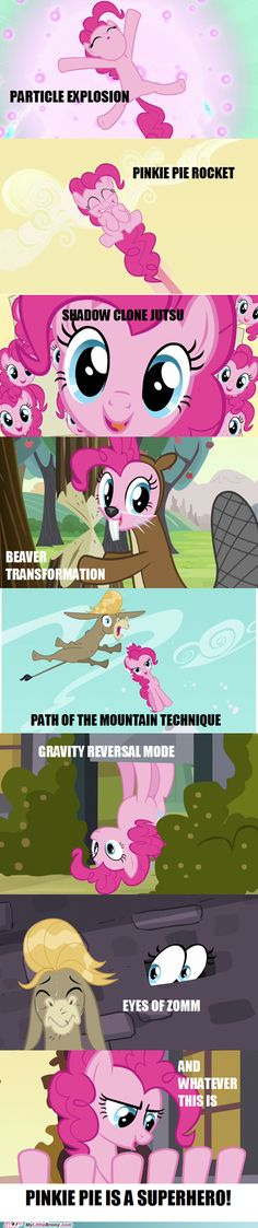 The many supernatural powers of Pinkie Pie