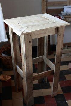 DIY Pallet End Table - Nightstands | Pallet Furniture Plans