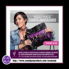 PROMOCIÓN DEL CLIENTEDel 1 al 30 de noviembre de 2016 REGALO POR EL CUARTO ANIVERSARIO valor 49€ Recibe de regalo el nuevo estuche para brochas Younique con motivo del cuarto aniversario cuando realices una compra de 160 € #younique #maquillaje #belleza #spain #spanish #valencia #barcelona #madrid