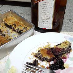 blackberries flan