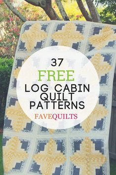 Learn how to quilt a traditional quilt block or quilt pattern with this list of lovely little log cabin quilt patterns.