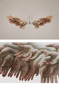 Choi Xooang's beautiful piece!  I love the wings-... Those are hands.