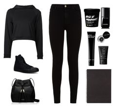 """""""All black"""" by bb123456789 ❤ liked on Polyvore featuring Getting Back To Square One, 7 For All Mankind, Converse, Kate Spade, Muji, Chanel, Bobbi Brown Cosmetics and NARS Cosmetics"""