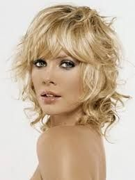 short curly hairstyles with bangs - Google Search