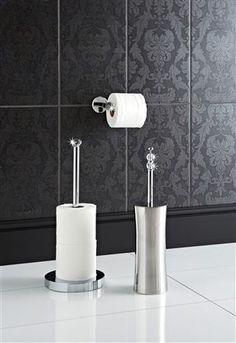 Buy Crystalle Toilet Brush, Crystalle Toilet Roll Stand & Crystalle Toilet Roll Holder from the Next UK online shop