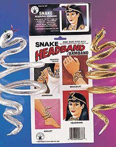 Rubies Cleopatra Egyptian Snake Arm Band Adult - http://www.spiritualgemstonejewelry.com/rubies-cleopatra-egyptian-snake-arm-band-adult/