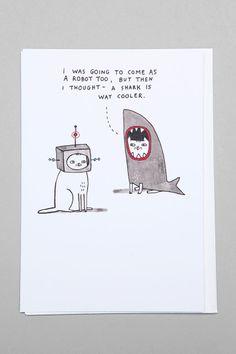 Gemma Correll Robot/Shark Card