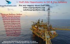 #GulfJobOpenings in Oil & Gas Industry #Careers #Jobs #AngelGulfJobs #PetroleumEngineering #Geology & #Geophysics #OilandFieldServices #ReservoirEngineering Angel Gulf Jobs is a full-service overseas manpower agency promoted by highly experienced professionals having worked across different sectors in the Gulf region. Oil & Gas is most prominent industry in Gulf. There is a major contribution of Oil & gas industry in the economic development of the entire Gulf region.