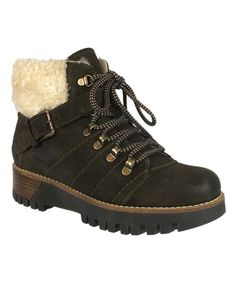 Olive & Off-White Gail Suede Boot