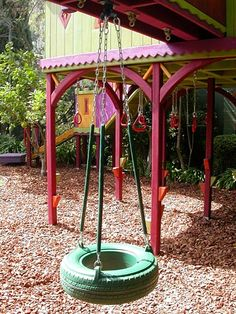 Best ideas about adult treehouses homes treehouses and for Tire play structure
