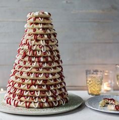 Kransekake is a Scandinavian cake that forms an impressive showpiece at celebrations including weddings and Christmas.