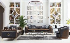 Bentley Koltuk Takımı - (3-3-1) Armchair, Gallery Wall, Luxury, Modern, Furniture, Home Decor, Sofa Chair, Single Sofa, Trendy Tree