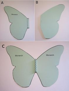 folding monarch butterfly cutout