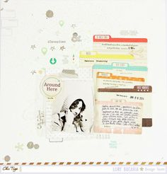 ** Chic Tags- delightful paper tag **: File Cards? How you can use them in a page