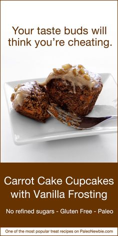 sweet tooth with our healthier carrot cake recipe. Make as cupcakes ...