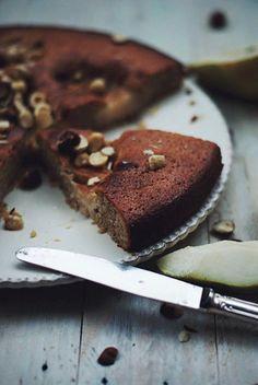Gâteau poires & noisettes