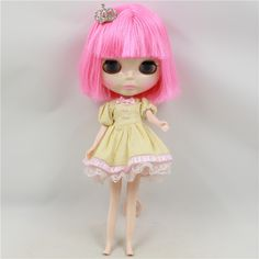 66.53$  Buy here - http://ali0zw.worldwells.pw/go.php?t=32728141986 - DayTaka Blyth cloth doll pink bangs hair cloth suitable for changing baby girl gifts