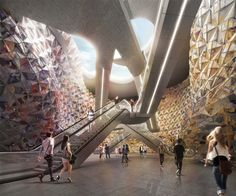 Miralles Tagliabue EMBT Wins Competition to Design Metro Station in Paris