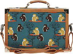 LOooov it I ASOS Fashion Finder | River Island Squirrel Print Suitcase Bag