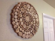 Modern Rustic Wood Slice Round Circle Spiral Wall Art Sculpture Tree Rings Handmade Abstract Organic Design Repurposed Shabby Chic - ALL ABOUT Wood Slice Crafts, Wood Crafts, Modern Rustic, Rustic Wood, Diy Wood, Rustic Decor, Wood Projects, Woodworking Projects, Woodworking Workshop