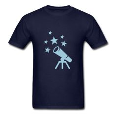 @roswellboutique Telescope T-Shirt  Classic-cut standard weight t-shirt for men, 100% pre-shrunk cotton, Brand: Gildan   Details    Telescope #Tshirt #telescope #astronomer #astronomia #Space #nasa