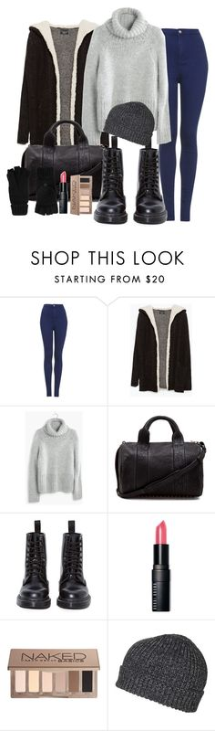 """""""Untitled #2342"""" by abigailtaylor ❤ liked on Polyvore featuring Topshop, Zara, Madewell, Alexander Wang, Dr. Martens, Bobbi Brown Cosmetics, Urban Decay, Accessorize, women's clothing and women"""