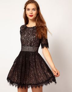 Darling Amelia Lace Skater Dress