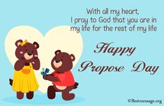 Propose Day messages to wish happy Propose day to your loved one. Propose day Wishes images for girlfriend Propose day image for Boyfriend Propose Day Messages, Happy Propose Day Wishes, Propose Day Images, Valentine Day Week List, Proposal Quotes, Wishes For Husband, Wishes Images, With All My Heart, Be Yourself Quotes