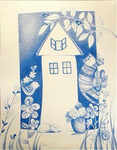 bien / Modrý domček