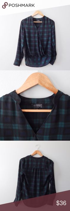 The Limited Plaid Chiffon Blouse The Limited plaid sheer wrap top size xs. So perfect for the fall! Like new condition. The Limited Tops Blouses