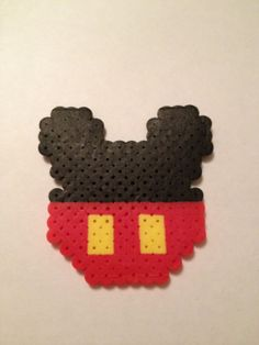 Mickey Mouse, Perler Beads, Disney, Geekery, Walt Disney, magnet, christmas ornament