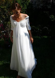 Maternity Wedding Dress from www.MaternityBride.com. Designed by Jessica Iverson.     mo
