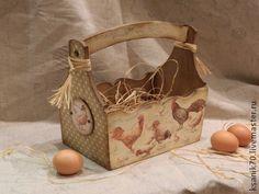 "Короб ""Домашняя ферма"" для пасхальных яиц, фруктов, лука, чеснока. - короб Decoupage, Diy Projects To Try, Wicker Baskets, Scrap, Craft Ideas, Crafts, Decorated Boxes, Craft, Decorative Boxes"
