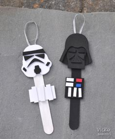 DIY Star Wars Characters Popsicle Stick Ornaments