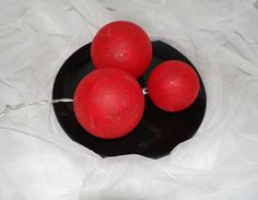 Leuchtkugeln rot,  Dekokugeln von Bastelkiste auf DaWanda.com