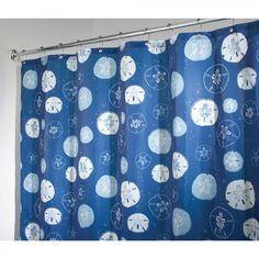 InterDesign Sand Dollar Self Adhesive Shower Curtain - 36420