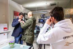 Preparativi per le interviste e la promozione delle cucine LUBE a #Fano  #spot #adv #shooting #comunicazione #pubblicità
